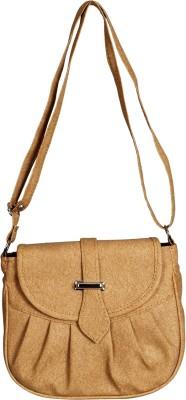 Triveni Women Beige Rexine Sling Bag