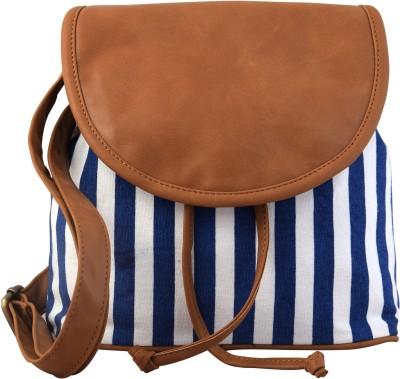 Lychee Bags Women Blue Canvas Sling Bag