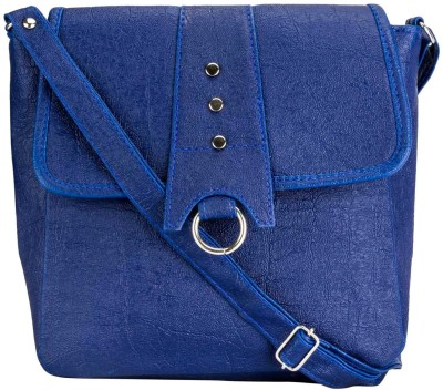 Style Zone Women, Girls Blue PU Sling Bag
