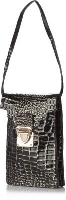 Stylehoops Girls, Women, Boys, Men Evening/Party Black PU Sling Bag