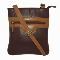 Chimera Leather Women Brown Genuine Leather Sling Bag
