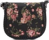 Heaven Deal Women Black PU Sling Bag