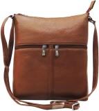 Mex Women Brown Leatherette Sling Bag