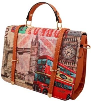 shopkio global Girls, Women Brown PU Sling Bag