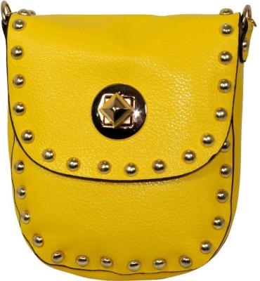 Gift Island Girls Yellow Leatherette Sling Bag