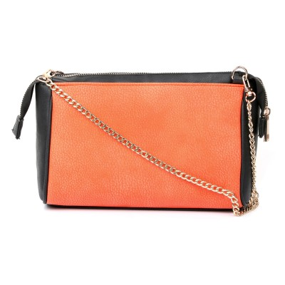 Cappuccino Girls Orange PU Sling Bag
