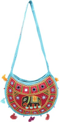 Rastogi Handicrafts Women Casual Maroon Cotton Sling Bag