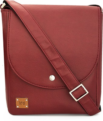 toog Girls, Women Maroon Leatherette Sling Bag