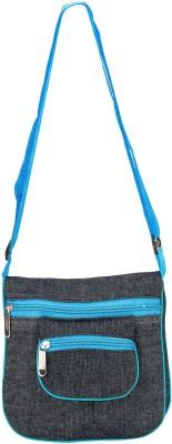 Glitters Girls Casual, Formal Black, Blue Canvas Sling Bag