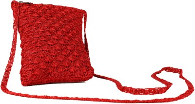 moKanc Women Casual, Evening/Party Red Cotton Sling Bag