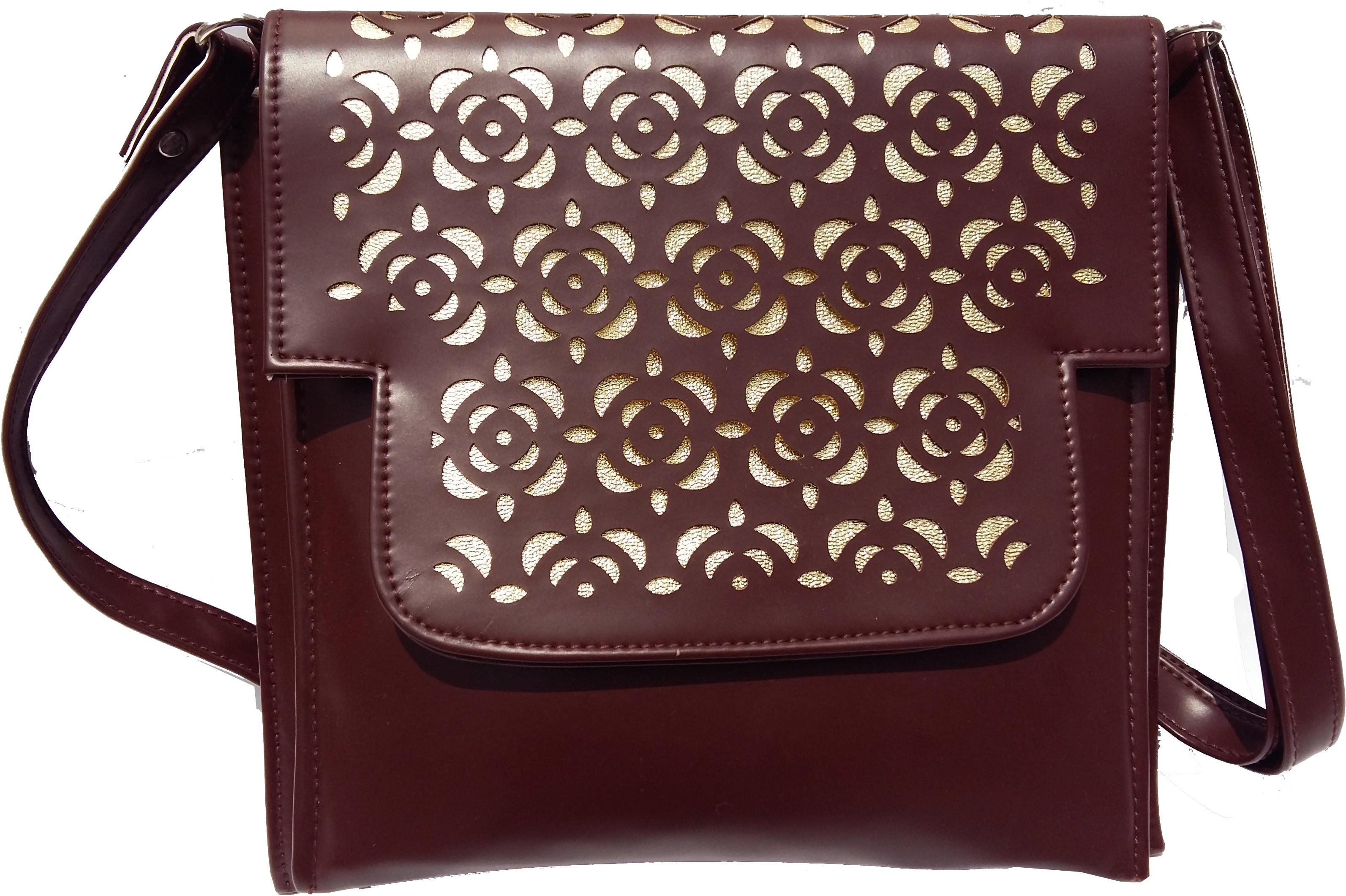 Sling bag below 500 - Surmount Girls Women Brown Pu Sling Bag