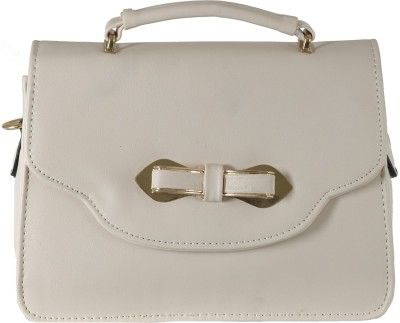 The Backbencher Women Beige Leatherette Sling Bag
