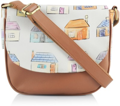 Shaun Design Women, Girls Brown Leatherette Sling Bag