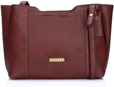 Caprese Girls, Women Maroon Leatherette Sling Bag