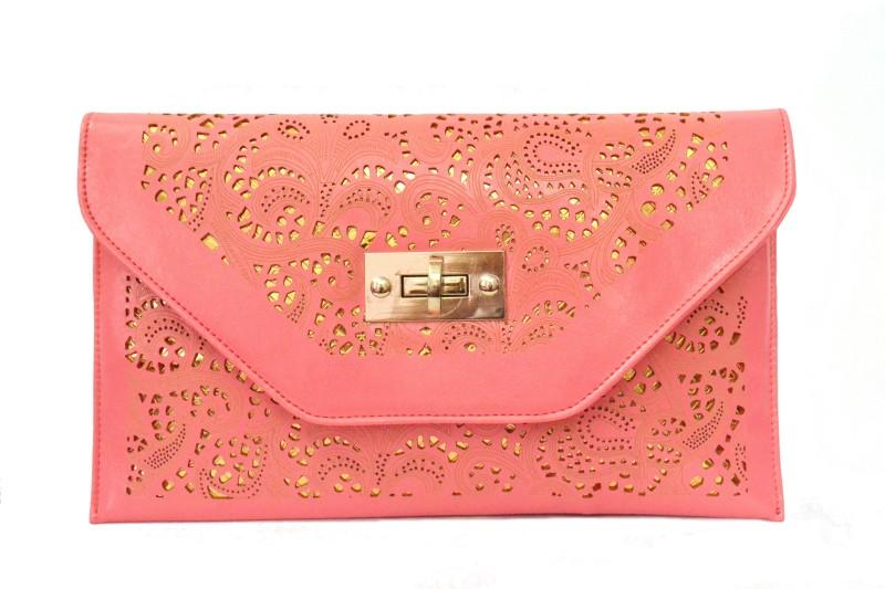 Cathriem Women Evening/Party, Festive Pink PU Sling Bag DI224C
