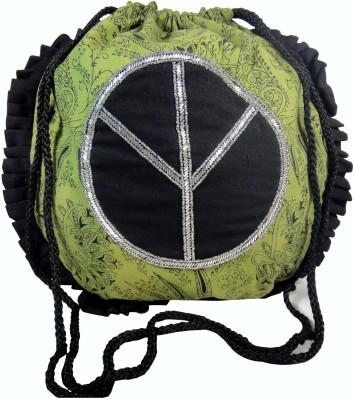 Praniti Women Green Cotton Sling Bag