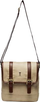 Srota Men Casual Brown PU Sling Bag