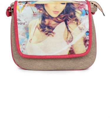 Star Style Women Casual Multicolor Canvas Sling Bag
