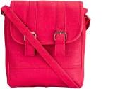 Style Zone Women Pink PU Sling Bag