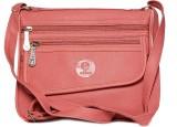 Pentafive Women Pink Leatherette Sling B...
