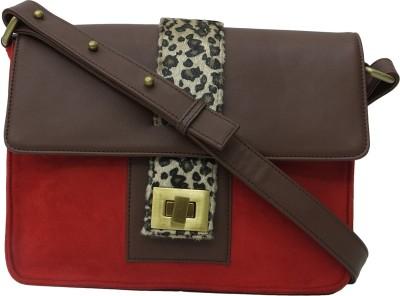 Zaera Women Casual Red PU Sling Bag