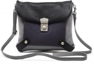 Sophia Visconti Girls Grey Genuine Leather Sling Bag