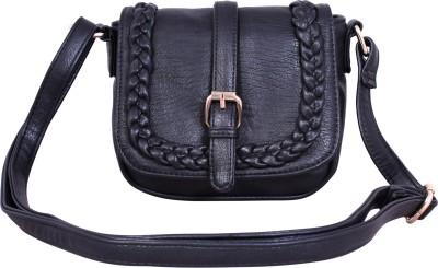 Lychee Bags Girls Black PU Sling Bag