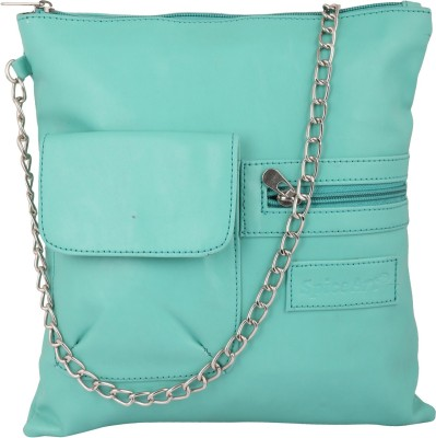 Spice Art Girls Casual Green Leatherette Sling Bag