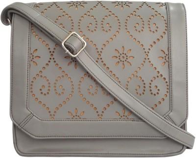 Toteteca Bag Works Women Grey Leatherette Sling Bag