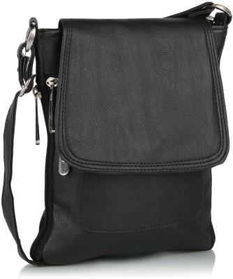 Alessia Women Black PU Sling Bag