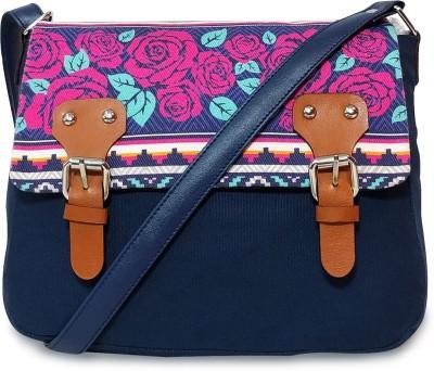 Lemon Trunk Women Multicolor, Blue Canvas Sling Bag