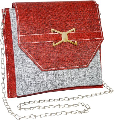 Minar Girls Red PU Sling Bag