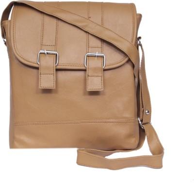 zasmina Girls, Women Brown, Beige Leatherette, PU Sling Bag