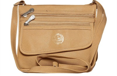 Tripssy Women Beige Leatherette Sling Bag