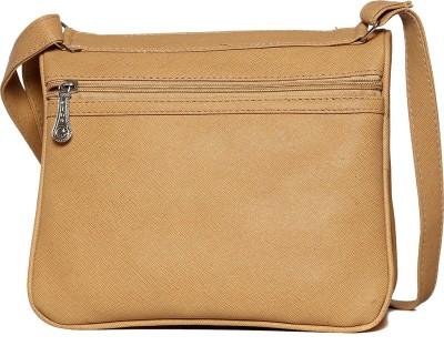 Flamboyance Women Beige Leatherette Sling Bag
