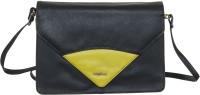 Goodwill Leather Art Men & Women Black Genuine Leather Sling Bag