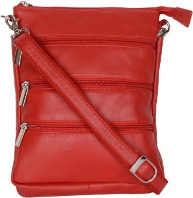 Bluwhale Men, Women Red Genuine Leather Sling Bag