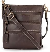 The House of Tara Men & Women Maroon Genuine Leather Messenger Bag