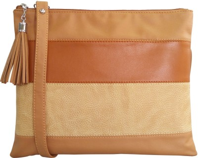 Toteteca Women Tan PU Sling Bag