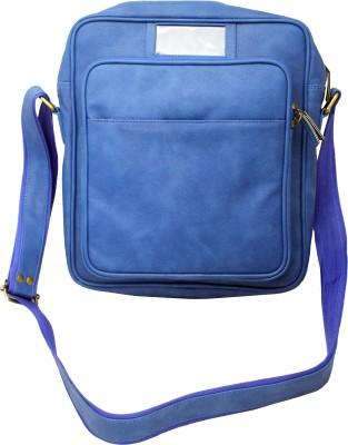 Nappastore Men, Women, Boys, Girls Casual, Formal Blue Leatherette Sling Bag