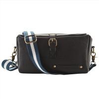 HAMMER COAL Men & Women Black Genuine Leather Sling Bag