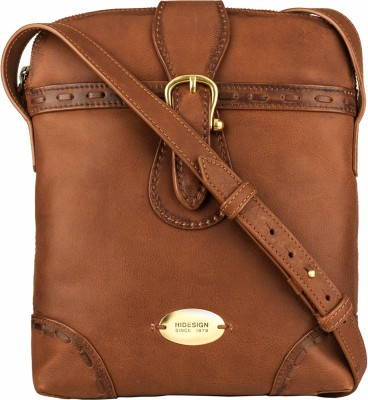 Hidesign Women Tan Genuine Leather Sling Bag