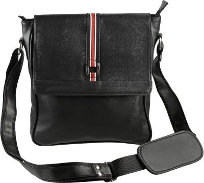 Kooltopp Men, Boys, Girls, Women Black PU Sling Bag