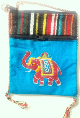 HR Handicrafts Boys, Girls Multicolor Canvas Sling Bag