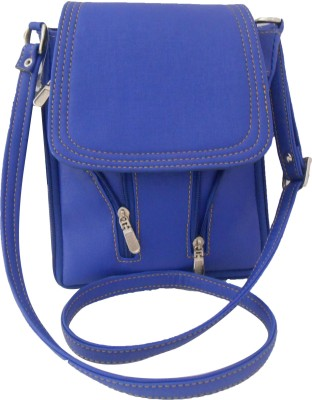 Clicktin Women Casual Blue PU Sling Bag