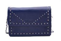 Landmesser Women Blue Genuine Leather Sling Bag