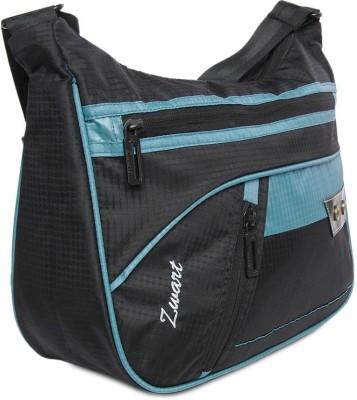 Zwart Men, Women Casual Black, Blue Polyester Sling Bag