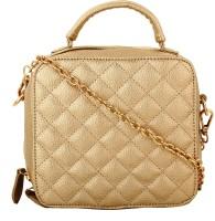 Alvaro Castagnino Women Gold PU Sling Bag