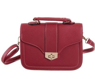 Peaubella Girls, Women Maroon Leatherette Sling Bag