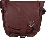 Gracetop Girls Brown PU Sling Bag